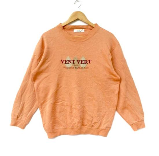 Balmain Vent Vert Pierre Balmain Sweatshirt Big Logo Embroidery Sweat Medium Size Jumper Pullover Jacket Sweater Shirt Vintage 90's Size US M / EU 48-50 / 2