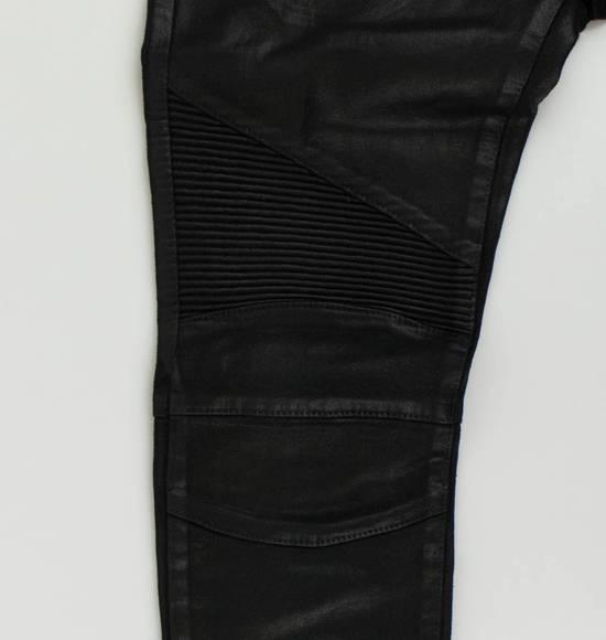 Balmain Black Waxed Cotton Denim Skinny Jeans Size US 34 / EU 50 - 6