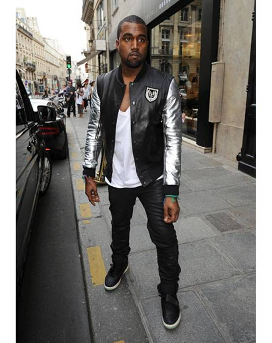 Balmain SS11 Decarnin Teddy Varsity Black Leather Jacket Kanye West 1of1 Size US L / EU 52-54 / 3