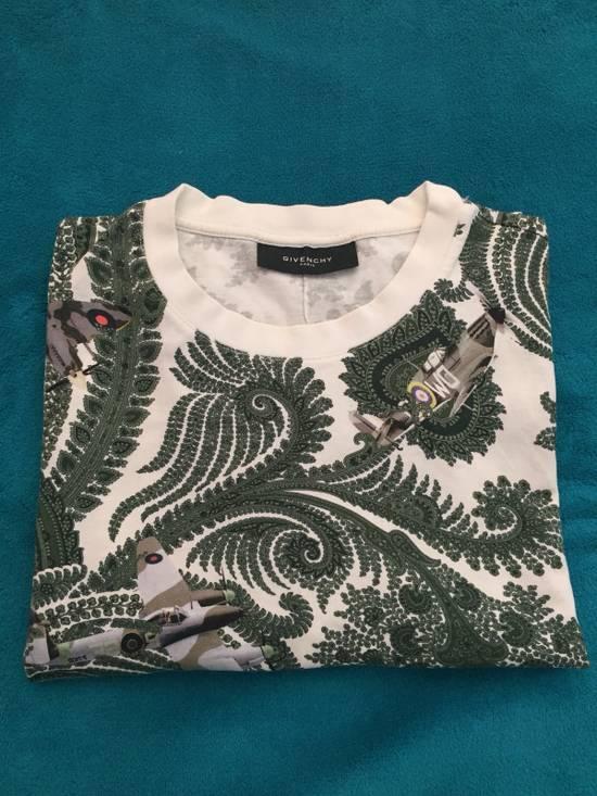 Givenchy Paisley and Plane-Print Cotton T-shirt Size US S / EU 44-46 / 1