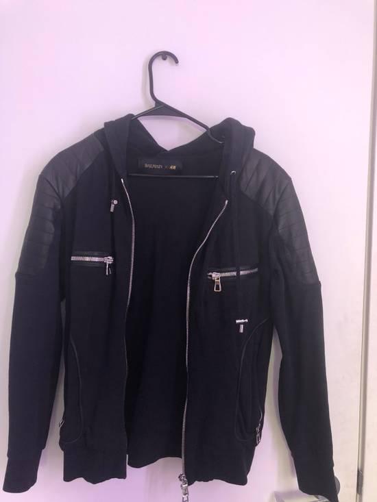 Balmain Leather Pads Hooded Jacket Size US S / EU 44-46 / 1