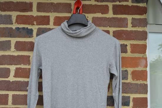Balmain Light Grey Ribbed Roll Neck T-shirt Size US M / EU 48-50 / 2 - 1
