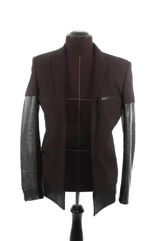 Balmain Balmain Black Leather Sleeve Blazer Size US S / EU 44-46 / 1