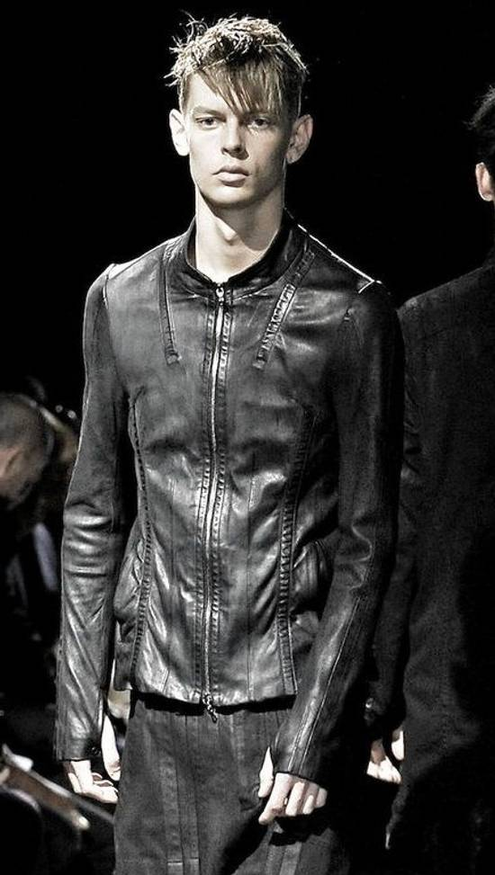 Julius Black Calfskin Jacket SS12 Size US S / EU 44-46 / 1 - 3