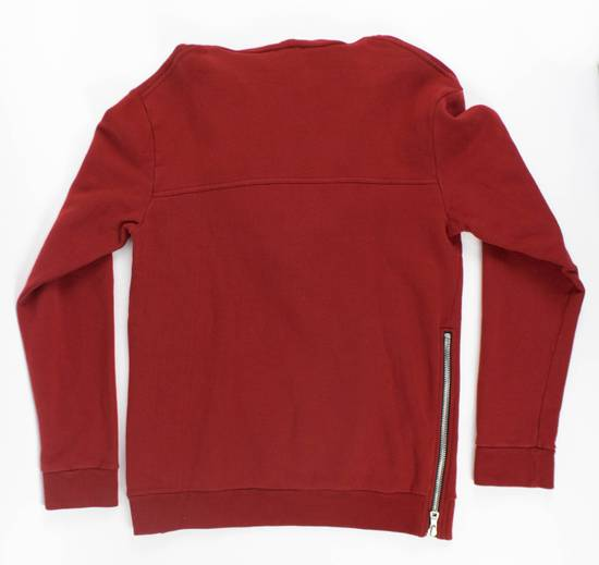 Balmain Red Cotton Hooded Zipper Sweatshirt Size L Size US L / EU 52-54 / 3 - 2
