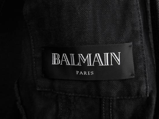 Balmain SS13 Black Wax Coated Denim Jacket sz. XS Size US XS / EU 42 / 0 - 6