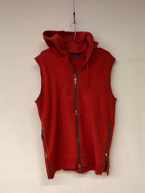 Balmain Balmain Sleeveless Zipped Up Hoodie Size US M / EU 48-50 / 2