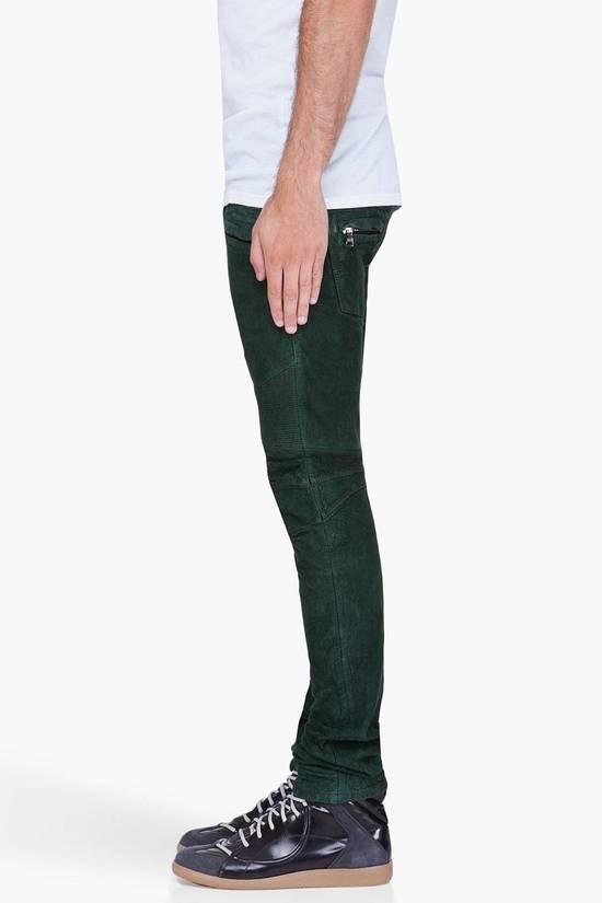 Balmain Balmain Green Lamb Suede Leather Biker Pants Size: 28-XS Size US 28 / EU 44 - 8