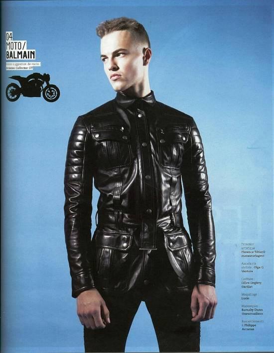 Balmain Balmain Black Leather Quilted Jacket Safari Biker Style SS13 *Very Rare* 48 Size US M / EU 48-50 / 2