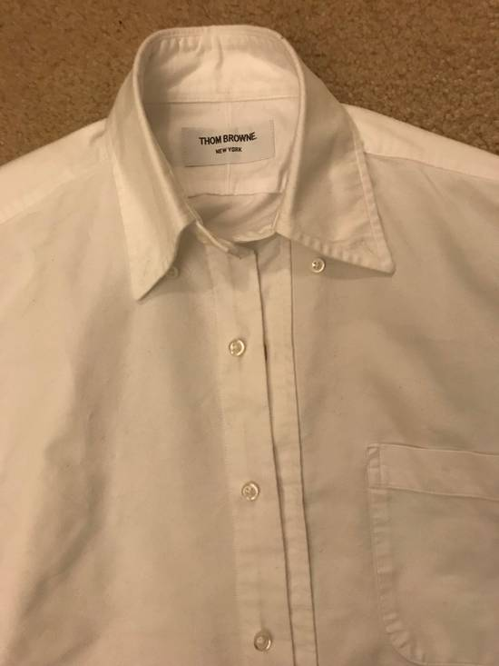 Thom Browne White Oxford Grosgrain Classic Shirt Size US XXS / EU 40 - 3