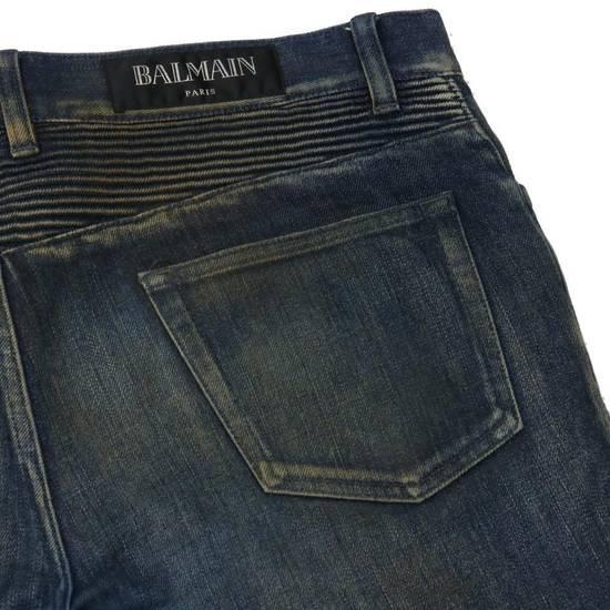 Balmain Balmain Mens Distressed Biker Moto Jeans Sz. 34 T551 C306 Size US 34 / EU 50 - 4