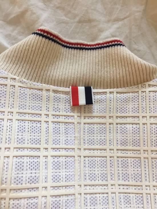 Thom Browne Thom Browne White Ribbed Zip-Up Jacket Size US S / EU 44-46 / 1 - 3