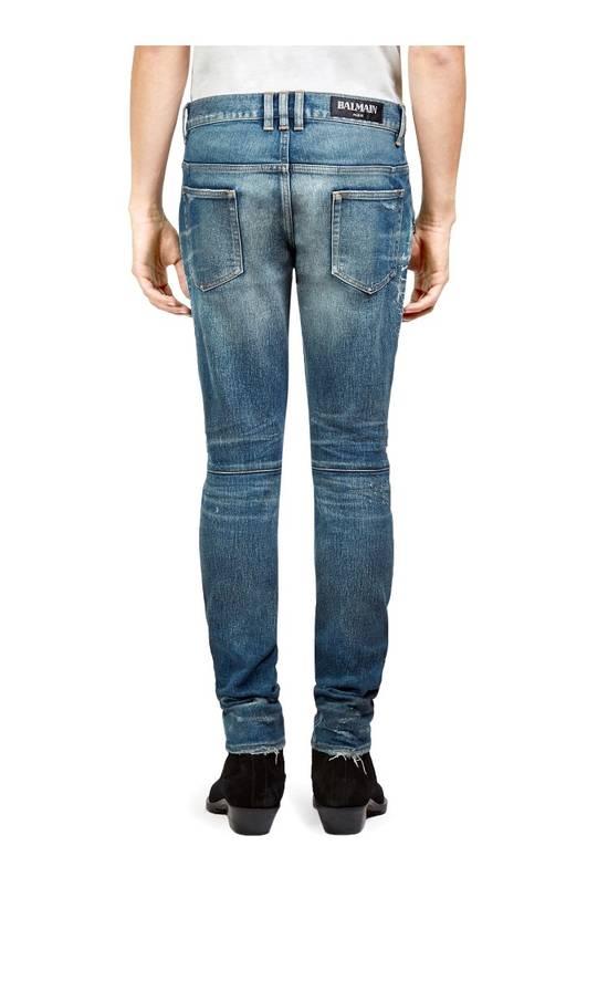Balmain Balmain Moto Distressed Jeans Size US 33 - 1