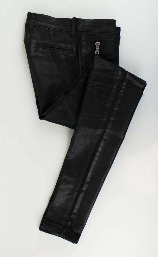 Balmain Black Waxed Cotton Denim Skinny Jeans Size US 34 / EU 50