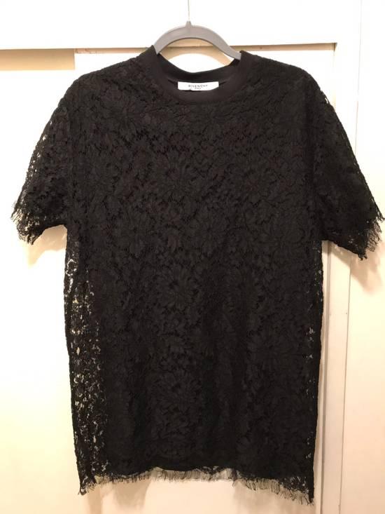 Givenchy Black Lace Overlay Tee Size US M / EU 48-50 / 2 - 7