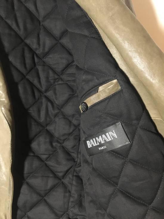 Balmain Olive leather jacket Size US M / EU 48-50 / 2 - 1