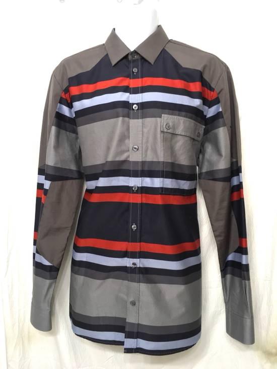 Givenchy Givenchy Paris Gray Horizontal Striped Button Shirt Size US L / EU 52-54 / 3
