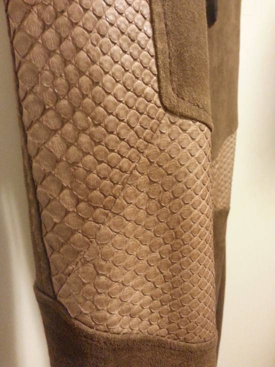 Balmain SS13 Python Leather Biker Pants Size US 30 / EU 46 - 2