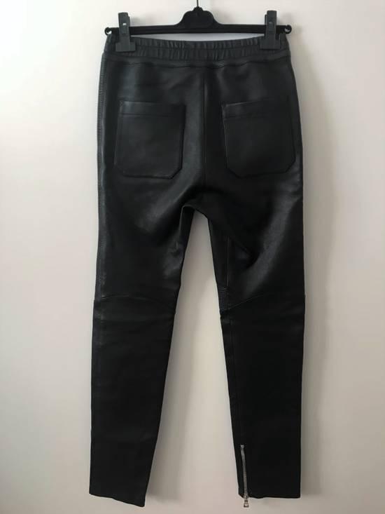 Balmain LAST DROP! Size M Fits S - Slim Fit Leather Ribbed Biker Style Sweatpants - $3100 Retail Size US 30 / EU 46 - 8