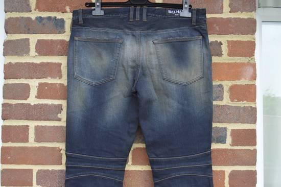 Balmain Dirty Blue Biker Jeans Size US 33 - 7