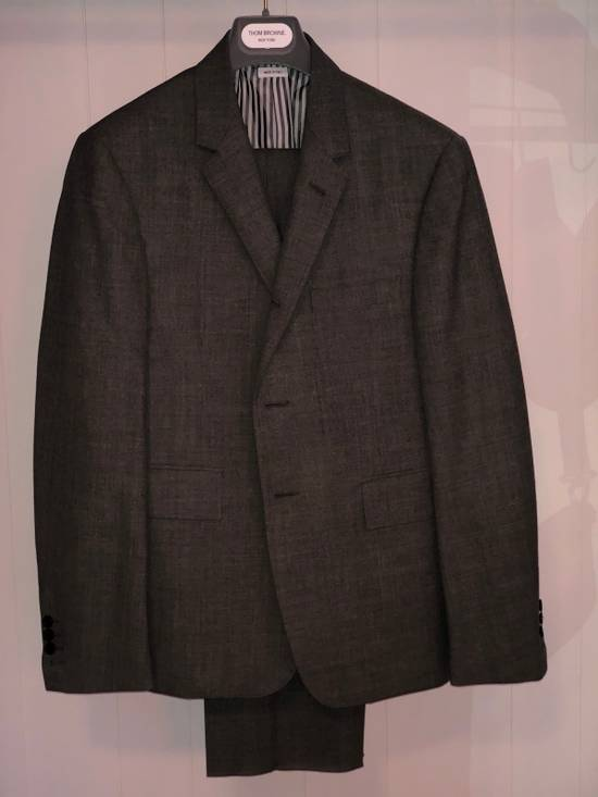 Thom Browne Classic Suit In 2 Ply Fresco Size 40R