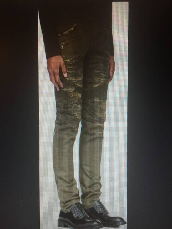 Balmain Distressed Slim Biker Jeans Size US 32 / EU 48 - 3