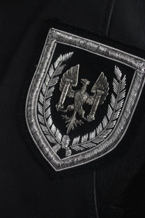 Balmain SS11 Decarnin Teddy Varsity Black Leather Jacket Kanye West 1of1 Size US L / EU 52-54 / 3 - 5
