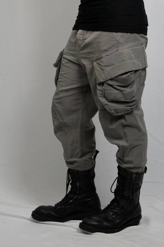 Julius SS12 'Edge' Grey Gasmask Cargo Cropped Pants Size US 31