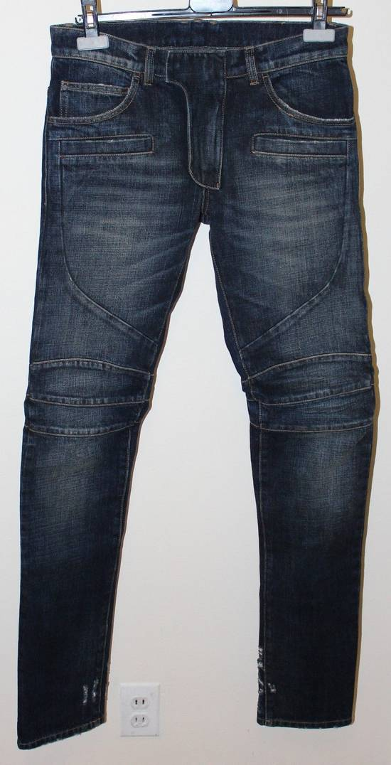 Balmain Balmain Side Distressed Moto Biker Jeans Size 28 BNWT Blue Denim Size US 28 / EU 44