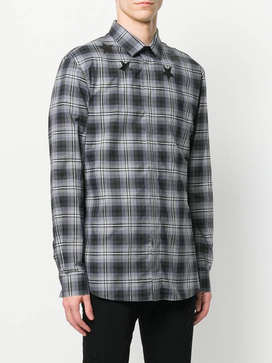 Givenchy $520 Givenchy Star Print Checked Rottweiler Shark Slim Fit Men's Shirt size 43 (L / XL) Size US L / EU 52-54 / 3 - 4