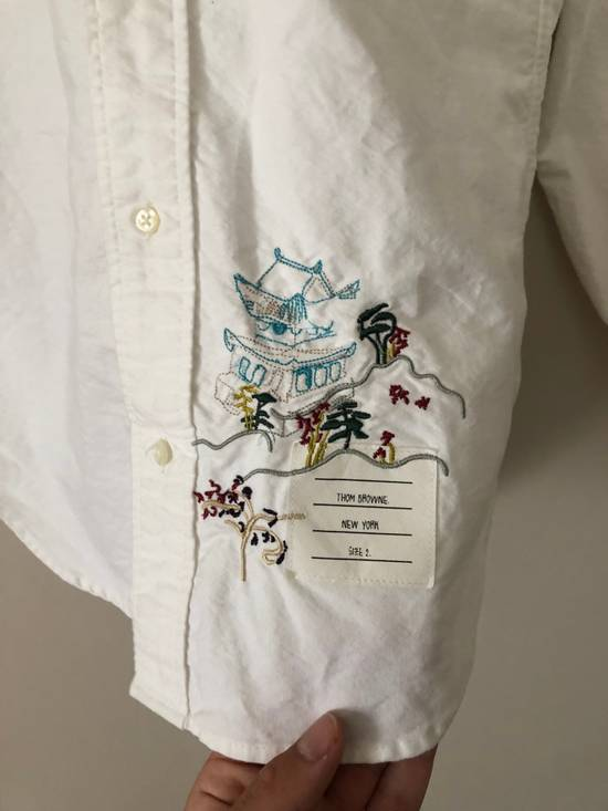 Thom Browne Thom Browne Embroidered Oxford Shirt Size US M / EU 48-50 / 2 - 2