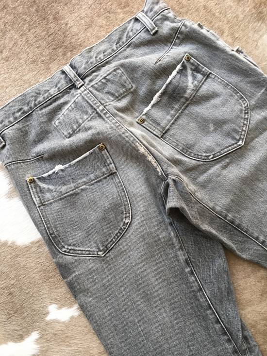 Julius Japan made rugged grey Slouchy distressed Japanese denim jeans Size US 29 - 13