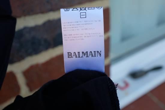 Balmain Navy Blue Distressed T-shirt Size US M / EU 48-50 / 2 - 5