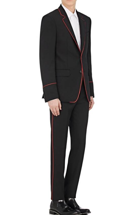 Givenchy Wool Mohair Contrast Piping Suit Size 42R
