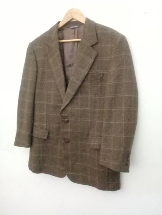 Givenchy Givenchy Gentleman Selection Couture Wool Cashmere Brown Plaid Blazer Size 46R - 18