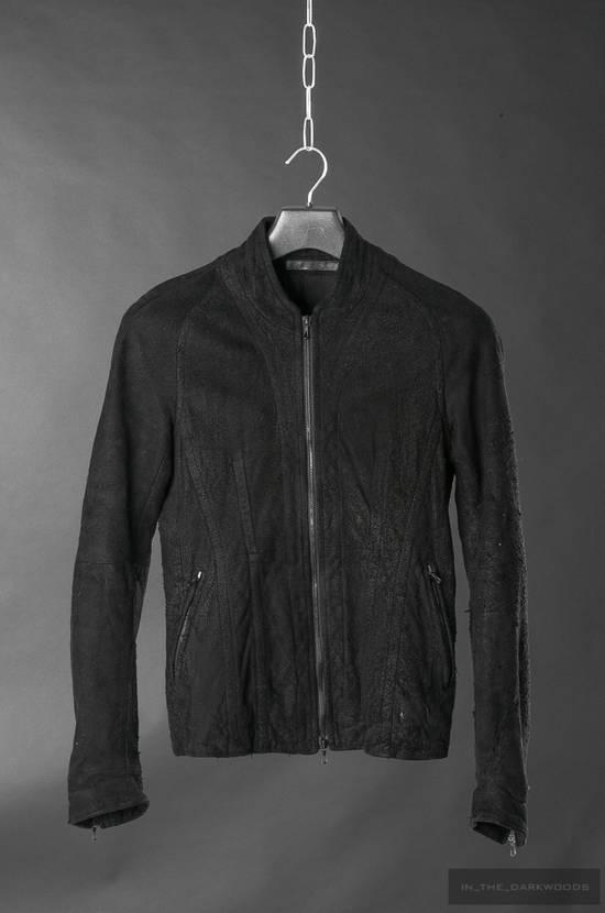 Julius = last drop = distressed lamb leather colarles jacket Size US M / EU 48-50 / 2