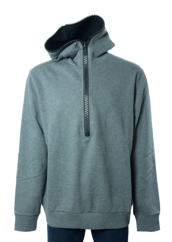 Givenchy Givenchy Men's 100% Cotton Gray Zipper Sweater Size US XL / EU 56 / 4 - 1