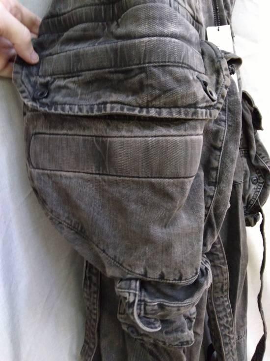 Julius Green Denim Gas Mask Cargo Pants s/s 13 Size US 31 - 5