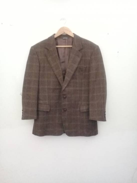 Givenchy Givenchy Gentleman Selection Couture Wool Cashmere Brown Plaid Blazer Size 46R - 16