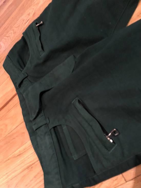 Balmain Balmain Biker Jeans Green Cotton Size US 31 - 1