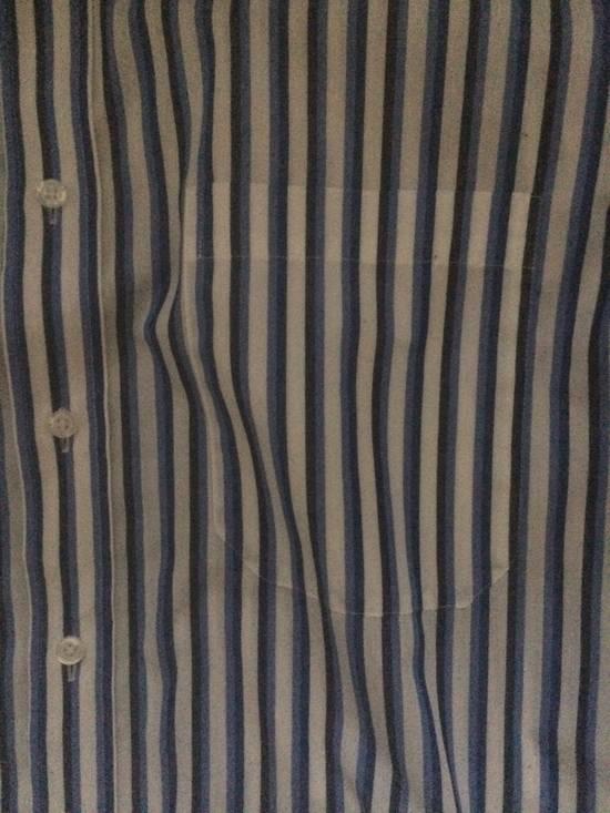 Balmain Blue Double Stripe Balmain Dress Shirt Size US M / EU 48-50 / 2 - 3