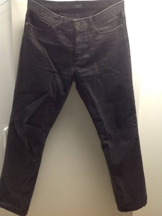 Givenchy Givenchy Black Denim With White Trim Size US 32 / EU 48 - 1