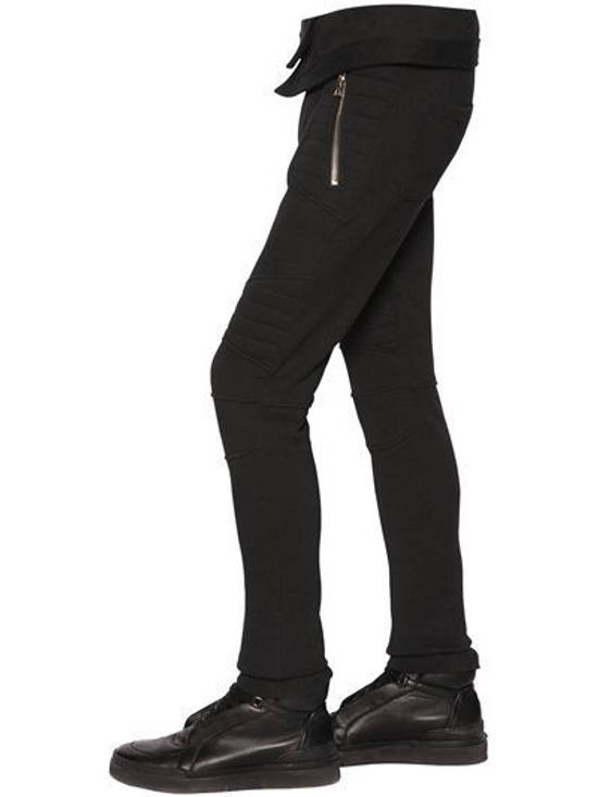 Balmain Balmain Cotton Jersey Biker Black Authentic $1040 Pants Size XL New Size US 36 / EU 52 - 1