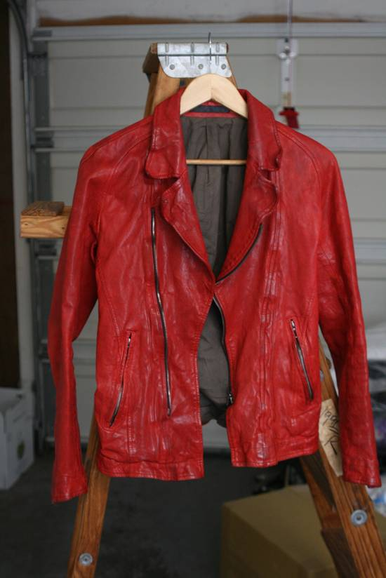 Julius FW09 'protectionism' Red Lambskin Rider Size 2 Size US S / EU 44-46 / 1 - 1