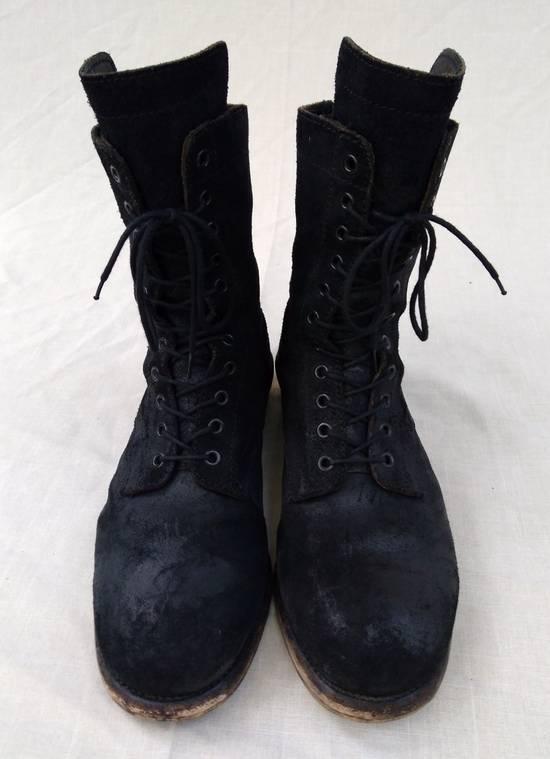 Julius Black Reversed Leather Backzip Combat Boots Size US 11 / EU 44 - 1