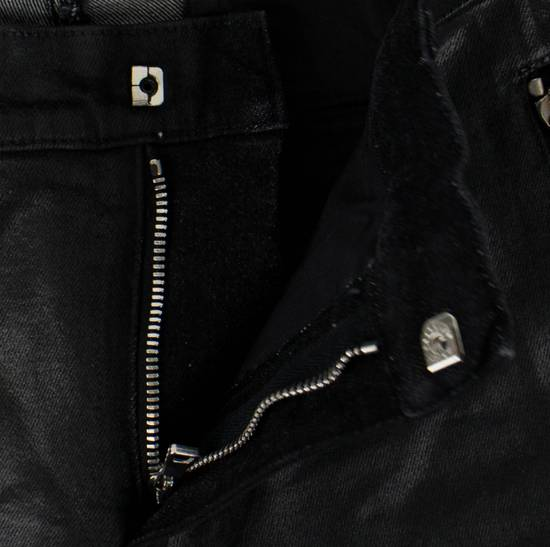 Balmain Black Waxed Cotton Denim Skinny Jeans Size US 34 / EU 50 - 4