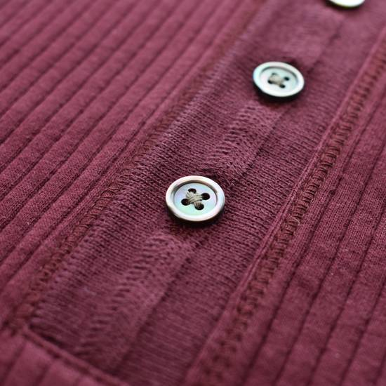 Thom Browne Wine Red Ribbed Henley Shirt NWT Size US XS / EU 42 / 0 - 11