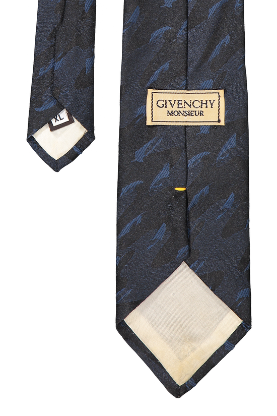 Givenchy Vintage Blue Camo Givenchy Tie Size ONE SIZE - 1
