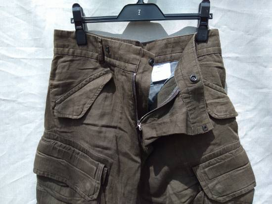 Julius Green Linen Blend Gas Mask Cargo Pants Size US 30 / EU 46 - 3