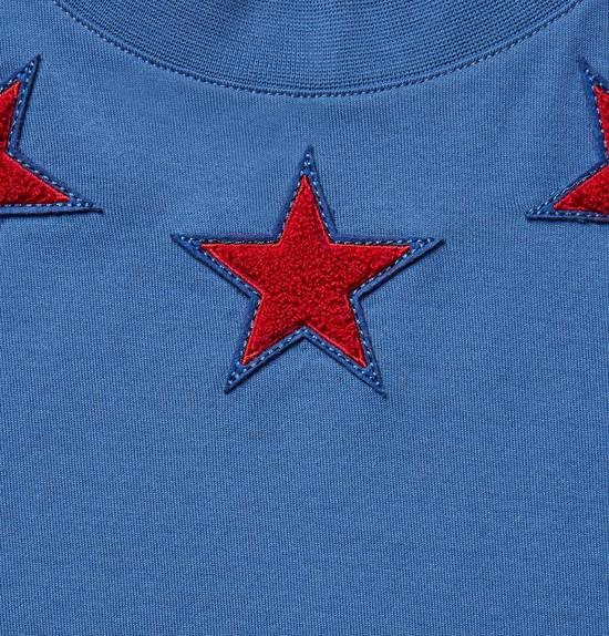 Givenchy Cuban-Fit 5 Star-Appliquéd Cotton-Jersey T-Shirt Size US L / EU 52-54 / 3 - 5